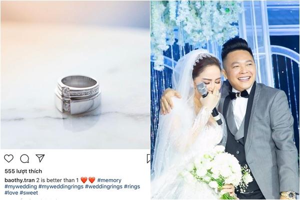 Sau 1 tuần về nhà chồng, Bảo Thy mới khoe nhẫn cưới, nhìn đơn giản mà giá trị không tưởng