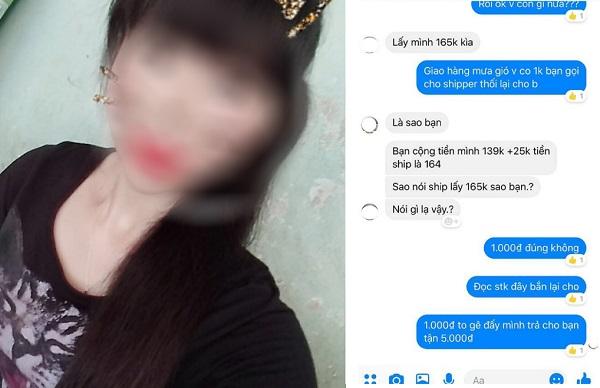 Shipper quên trả 1.000 đồng tiền thừa, cô gái tức giận nhắn tin một mực đòi chủ shop online phải trả đủ