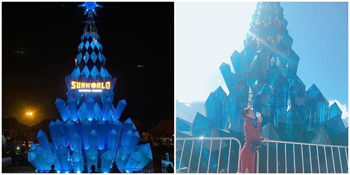 Check-in ngay Cây thông pha lê khổng lồ đẹp tựa trong phim Frozen ở Fansipan dịp Giáng sinh này