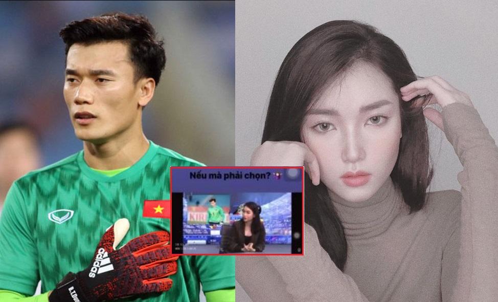 Chẳng còn né tránh tin đồn hẹn hò, nữ MC xinh đẹp không ngại lên sóng tiết lộ sẽ yêu thủ môn Bùi Tiến Dũng