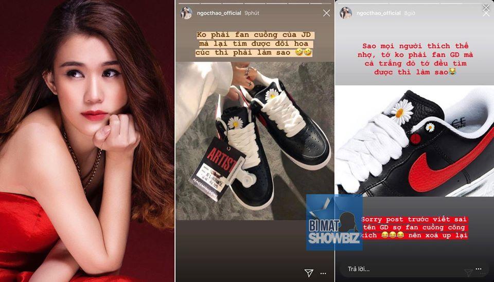 """Ngọc Thảo bị netizens """"chửi hội đồng"""" vì: đã viết sai tên còn """"cà khịa"""" mua được giày của G-Dragon"""