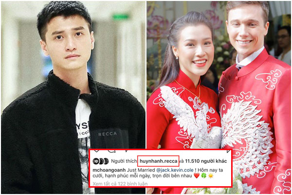 Hành động âm thầm của Huỳnh Anh trong ngày tình cũ Hoàng Oanh lên xe hoa với chồng Tây
