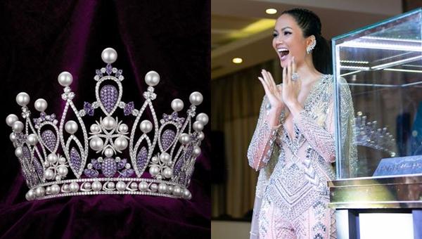 """Lộ diện vương miện chính thức Hoa hậu Hoàn vũ Việt Nam 2019: đính hơn 2.000 kim cương và đá, tông màu tím """"rịm"""" chủ đạo"""