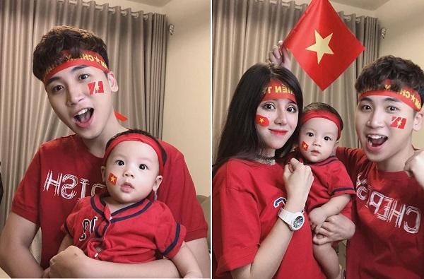 """Tưởng định """"giấu nhẻm"""", cuối cùng Huy Cung cũng chịu khoe con trai kháu khỉnh sau 1 năm lấy vợ"""