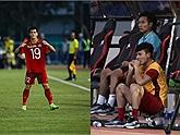 Đá 2 hiệp mệt nhoài nhưng Tiến Linh vẫn không quên làm việc ý nghĩa cho đội trưởng Quang Hải