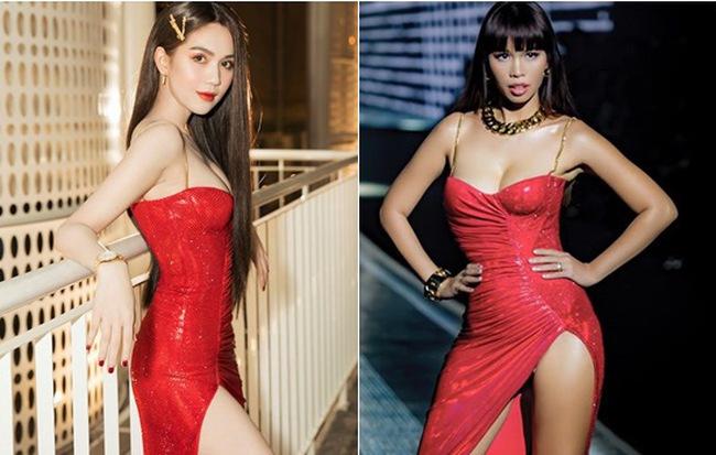 """Hà Anh - Ngọc Trinh và màn đụng hàng cực """"gắt"""" khi diện cùng một chiếc váy: dáng đẹp mặt xinh hay thần thái quyết định tất cả?"""