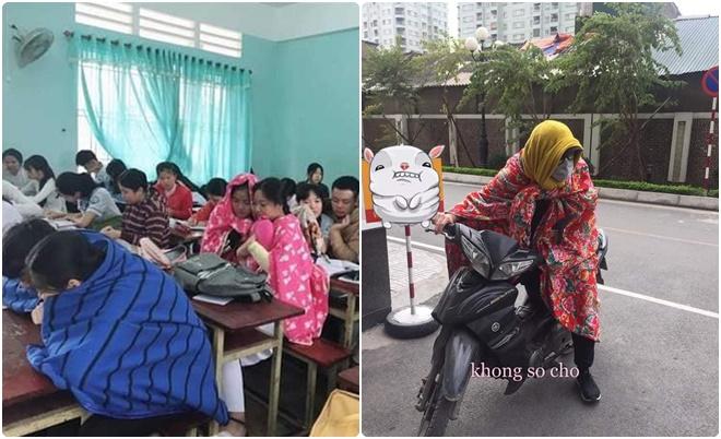 """Trời rét đậm, học sinh lại có dịp mang chăn đi học khiến """"lớp như sở thú"""""""
