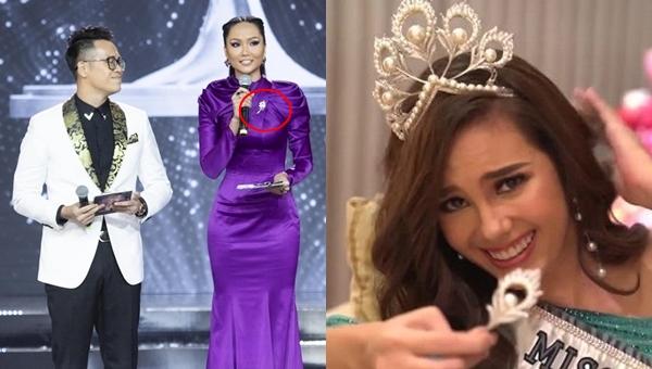 """Bí mật thú vị trên chiếc đầm """"kín bưng"""" của H-Hen Niê, cứ ngỡ có liên quan đến vương miện bị gãy của đương kim Hoa hậu Hoàn vũ thế giới"""