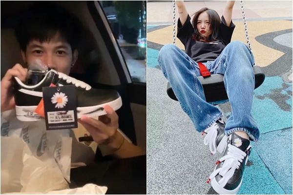"""Loạt sao Việt """"đập hộp"""" giày hoa cúc của G-Dragon: Phương Ly chiếm spotlight vì đeo quá xinh"""