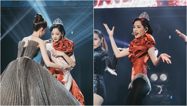 """Ngọc Trinh trao vương miện """"Hoa hậu Showbiz"""" ngay trên sân khấu, thế là Chi Pu từ nay đã có """"danh hiệu"""" đúng nghĩa"""