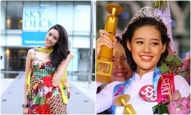 Hình ảnh thời học trung học của tân Hoa hậu Hoàn vũ Việt Nam: Miss Áo dài Nữ sinh và cái duyên với áo dài Việt