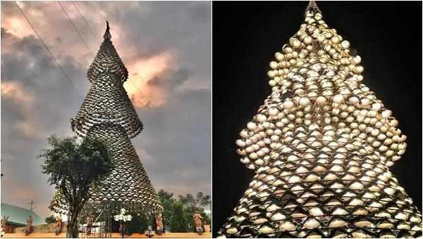 Sát thềm Noel, giới trẻ rục rịch set kèo check in với cây thông nón lá khổng lồ sát xịt Sài Gòn