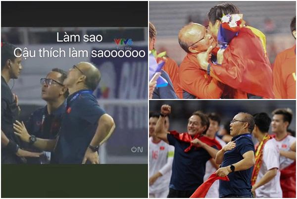 1001 khoảnh khắc cực đáng yêu của thầy Park trên sân cỏ: Cà khịa trọng tài, vít cổ hôn má học trò khi giành chiến thắng