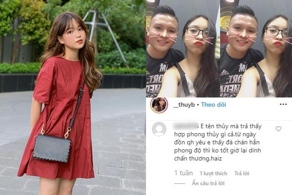 """Hot girl 1m52 bị anti fan gọi là """"Tuesday"""" làm Nhật Lê đau khổ, ám vận đen khiến Quang Hải chấn thương ở SEA Game"""