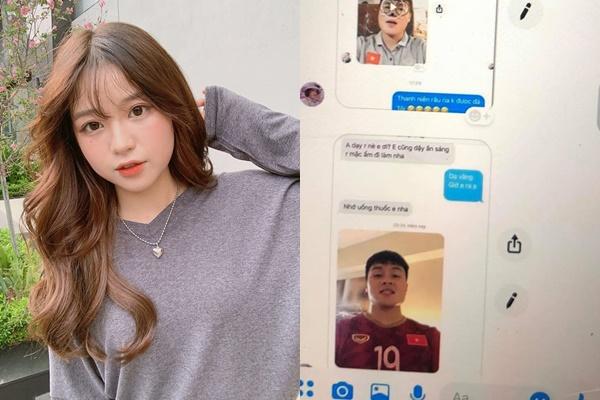 """Xôn xao tin nhắn Quang Hải dặn dò hot girl 1m52 """"Nhớ uống thuốc nha em"""", fan lo Nhật Lê đọc được đau lòng lắm"""