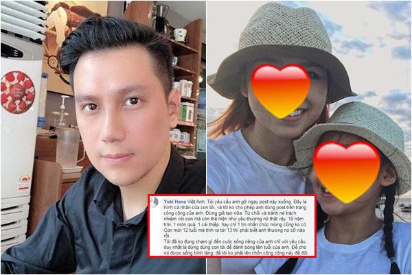 """Vợ cũ bức xúc tố Việt Anh """"giả tạo"""", 10 năm không gặp con nhưng lên mạng """"làm màu"""" đánh bóng tên tuổi"""