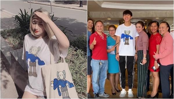 """Chiếc áo Đoàn Văn Hậu mặc lúc chia tay đồng đội tại Philippines được fan săn đón """"cháy hàng"""" để có """"cheap moment"""" với thần tượng"""