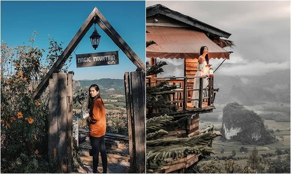 """Phát hiện tiệm cafe ngay giữa """"biển mây"""" view ôm trọn thung lũng Thái Lan"""