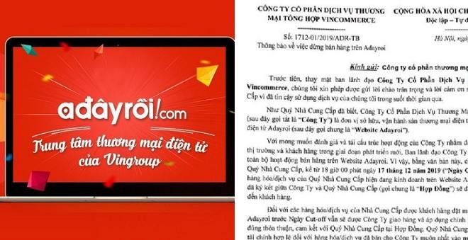 Trang thương mại điện tử Adayroi.com ngừng hoạt động hay chỉ tạm dừng?