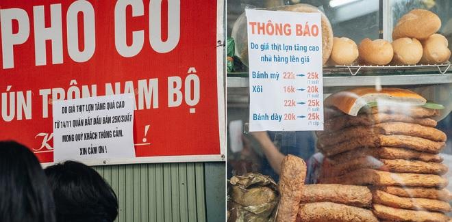 """Giá thịt lợn """"trên trời"""", hàng loạt quán ăn đồng loạt treo biển """"báo tin buồn"""""""