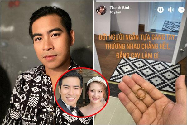 Dòng status cay đắng của Thanh Bình hậu ly hôn, khi vợ cũ vẫn vui vẻ ôm trai lạ?