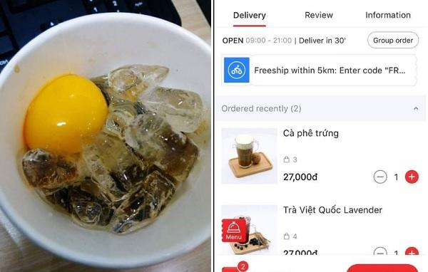 """Lạnh lạnh ngồi order món cà phê trứng thơm ngon, khách """"câm nín"""" khi nhận về đúng chuẩn cà phê kèm trứng sống"""