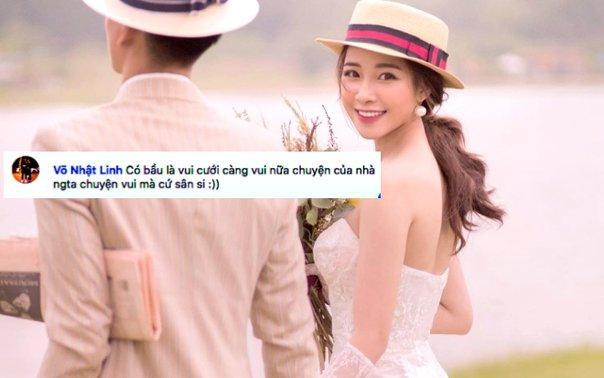 """Chẳng còn e dè thêm nữa, Nhật Linh - vợ tương lai của Phan Văn Đức hoan hỉ chuyện bầu bí: """"Tin vui sao cứ sân si"""""""