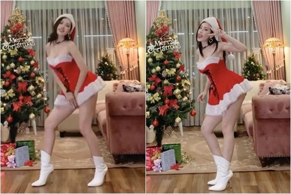"""Chi Pu hóa """"bà già Noel"""" phiên bản sexy, uốn éo trước máy quay nhưng dân tình """"ơn giời"""" vì chị không hát"""