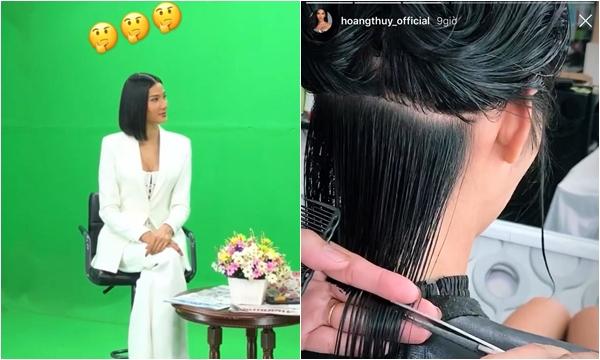 """Hoàng Thùy bất ngờ cắt phăng mái tóc dài đen truyền thống, hóa ra người """"xúi"""" lại ở xa đến nửa quả địa cầu"""