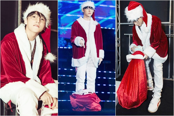 """""""Ông già Noel"""" Sơn Tùng đi phát quà, fan hú hét: """"Phát luôn ông cho bọn cháu cũng được"""""""