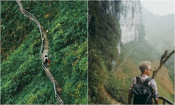 Phát hiện cung đường đi bộ sát vách núi hiểm trở nhất Việt Nam nhưng đứng vào là có ngay ảnh đẹp