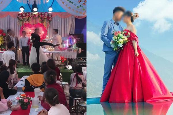 Vụ chú rể đập đồ trong đám cưới: Không có chuyện hủy hôn, cô dâu mang bầu trước
