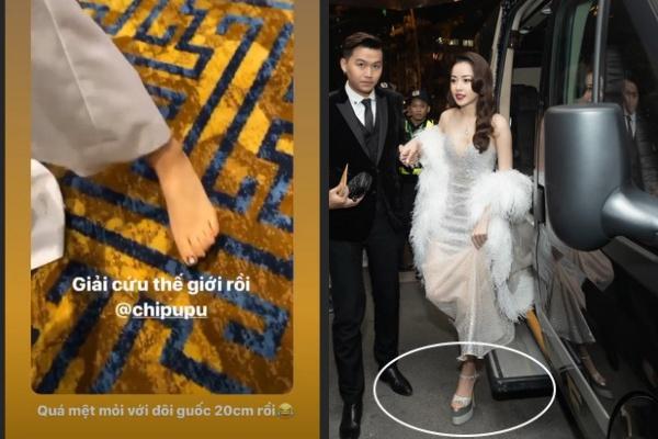 """Được mệnh danh là """"bậc thầy giày cao gót"""", cuối cùng Chi Pu cũng phải than mệt mỏi với đôi giày cao 20cm"""