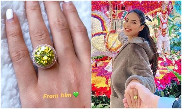 """Phạm Hương chính thức công khai """"cổ tay"""" bạn trai, nhưng chú ý nhất vẫn là nhẫn kim cương đính hôn đeo ngón áp út"""
