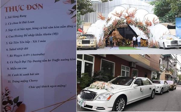 """Rạp 2,5 tỷ, rước dâu bằng siêu xe nhưng đám cưới ở Quảng Ninh vẫn bị chê: """"Cỗ 35 triệu/bàn không có nổi đĩa thịt lợn"""""""