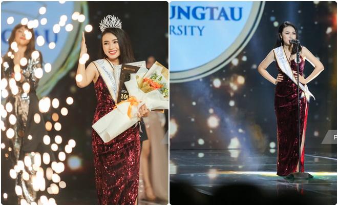 Nữ sinh Cà Mau vượt lên mặc cảm ngoại hình để đăng quang Hoa khôi ĐH Bà Rịa - Vũng Tàu