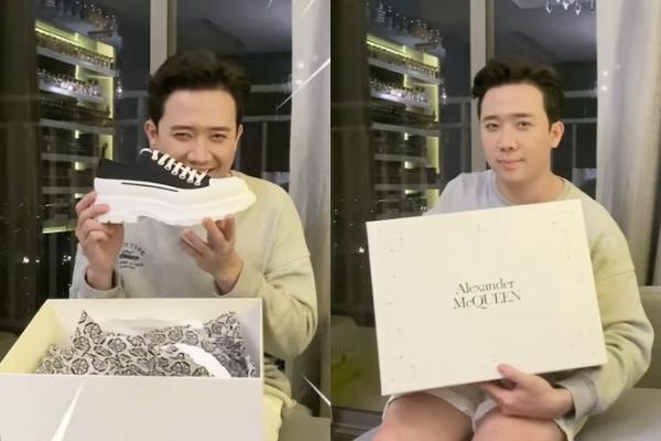"""Đập hộp giày hiệu mới, Trấn Thành bị Hari Won cà khịa: """"Giày dành cho người lùn"""""""