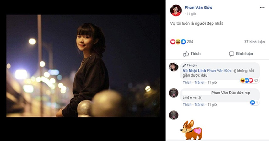 """Phan Văn Đức là cái tên tiếp theo vào """"hội sợ vợ"""", nịnh nọt Nhật Linh ngọt thế mà vẫn bị vợ quát cho tiu nghỉu!"""