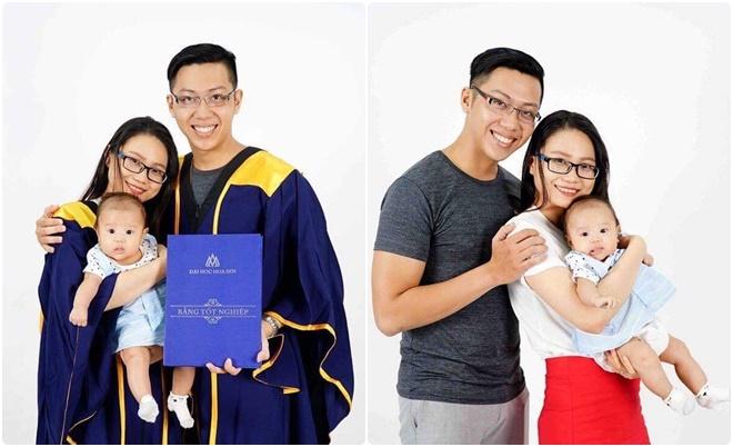 Cặp vợ chồng cùng ra trường với loại giỏi gây ấn tượng tại lễ trao bằng tốt nghiệp của ĐH Hoa Sen
