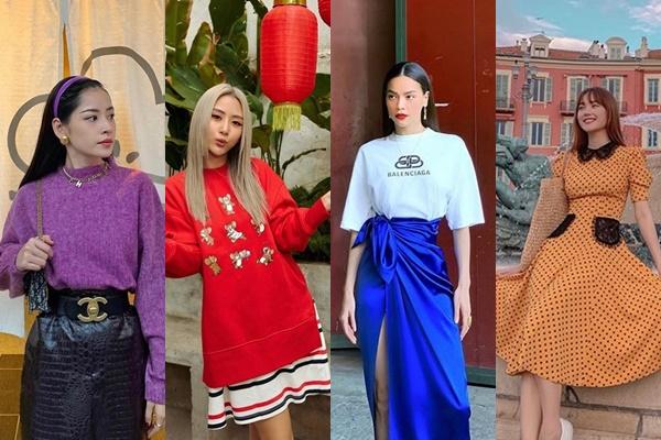 Minh Hằng, Chi Pu, Châu Bùi dẫn đầu xu hướng với các gam màu 2020