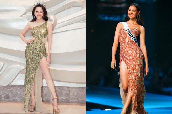 Fan Philippines bất ngờ tung bằng chứng nghi ngờ Hương Giang đạo nhái mẫu váy của Hoa Hậu Hoàn Vũ 2018