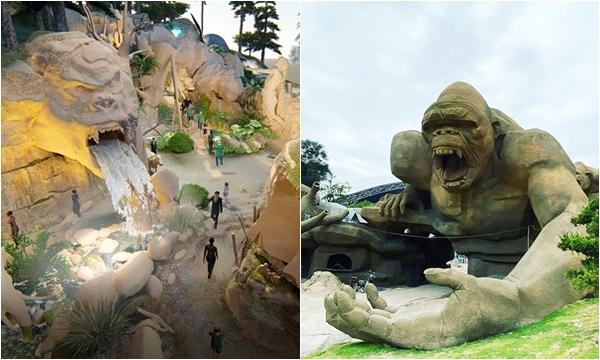Lộ diện công viên KING KONG - KHỦNG LONG siêu to khổng lồ sắp khai trương ở Hạ Long