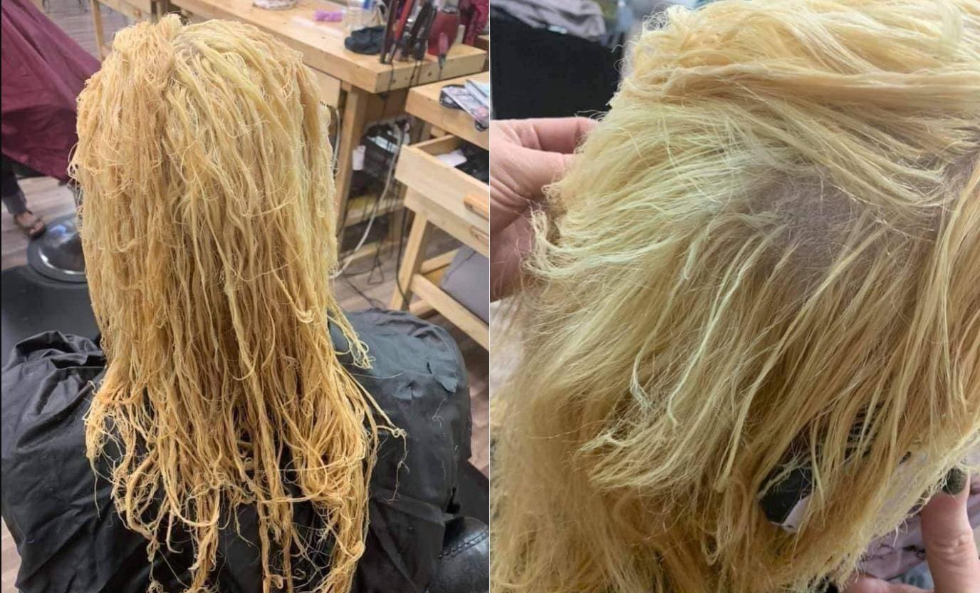 Hí hửng làm tóc xinh đón Tết, cô nàng hốt hoảng lên mạng hỏi: Đây là kiểu tóc khô gà lá chanh hay măng khô xé sợi?