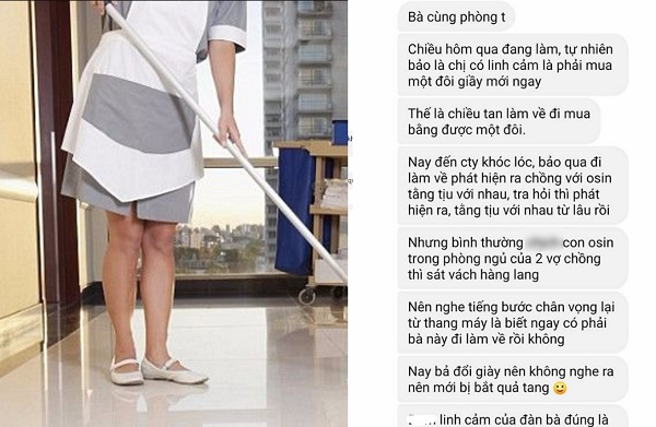 Đừng đùa với giác quan của phụ nữ: Chỉ vì linh cảm phải mua đôi giày mới, vợ phát hiện chồng và osin ngoại tình