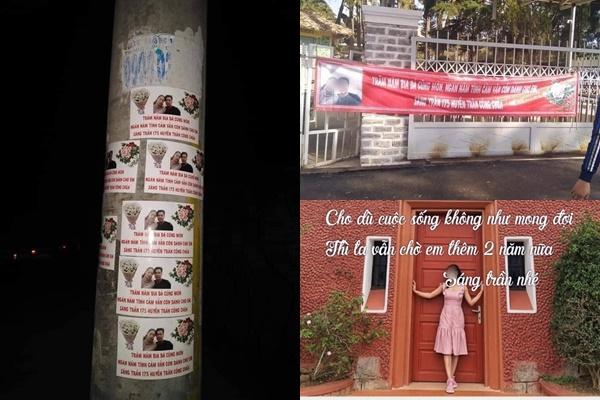 """Bị """"đá"""", anh chàng dán ảnh bạn gái kín các cột điện ở Đà Lạt: """"Trăm năm bia đá cũng mòn, ngàn năm tình cảm vẫn còn cho em"""""""