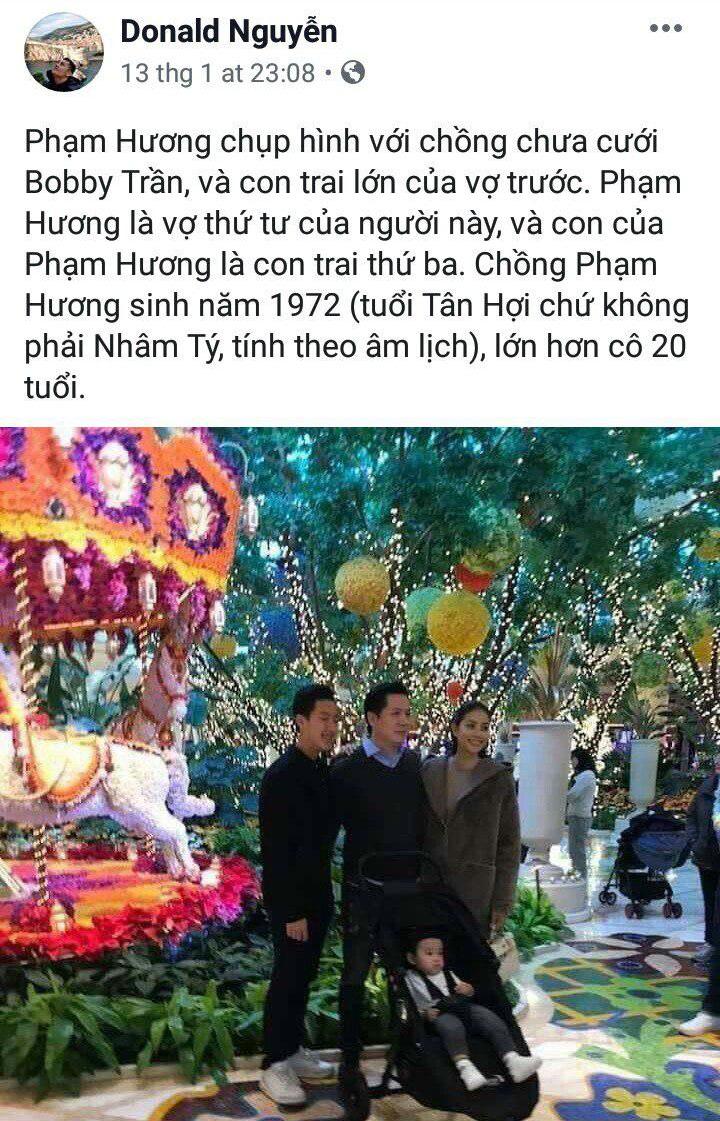 Người từng tố Phạm Hương vô ơn tiết lộ cô chỉ là vợ thứ 4 của đại gia Hải Phòng hơn 20 tuổi
