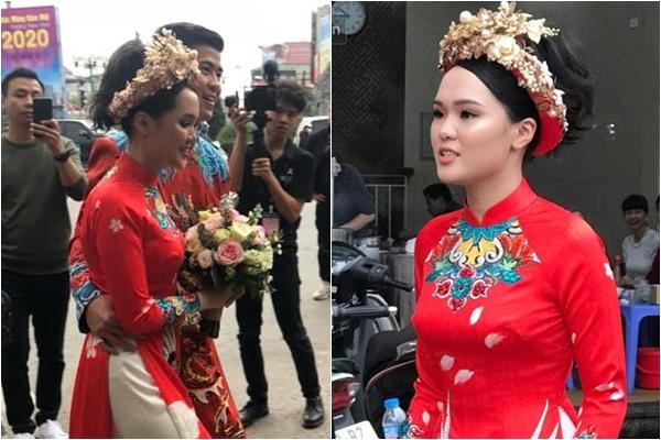 """2 bộ áo dài của ái nữ Cựu chủ tịch CLB Sài Gòn Quỳnh Anh bị chê như """"lên đồng"""", cố màu mè lấn át chú rể?"""