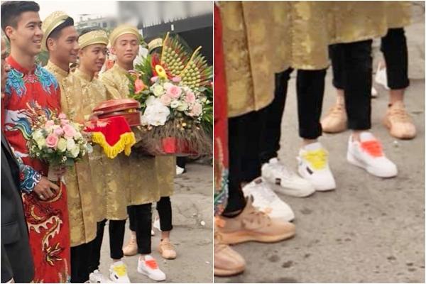 """Dàn bê tráp của Duy Mạnh - Quỳnh Anh bị chê ăn mặc """"lôm côm"""", nhà trai đã thế, nhà gái chẳng khá hơn"""