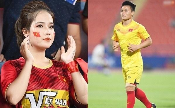 """Bạn gái tin đồn đến sân cổ vũ cho Quang Hải, dân mạng ác khẩu đổ lỗi 2 bàn thua """"vì chị đến nên U23 Việt Nam xui quá"""""""