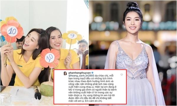 Thúy Vân lên tiếng sau tin đồn không đi từ thiện cùng Khánh Vân - Kim Duyên vì tị nạnh danh hiệu